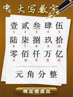 中文大写金额_中文大写金额数字到角为止的在角之后可以写