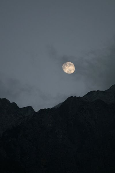 月亮) the moon:满月