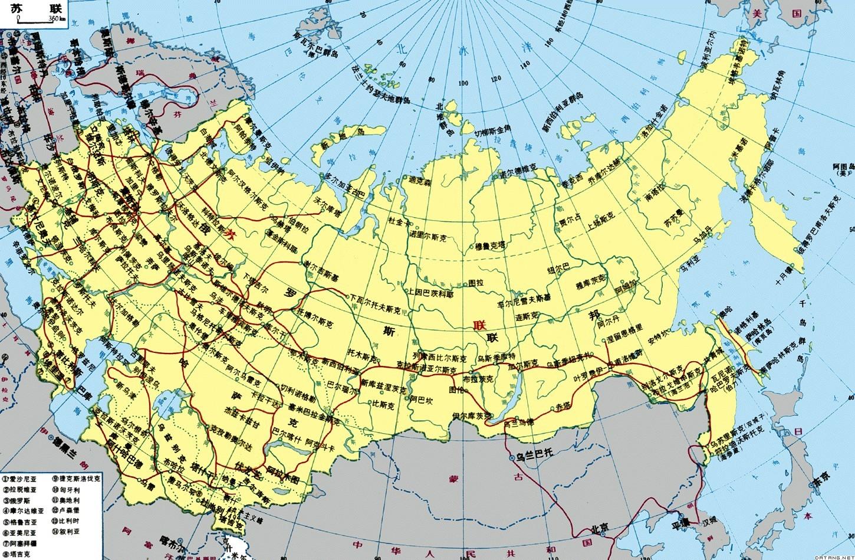 俄罗斯地图 高清