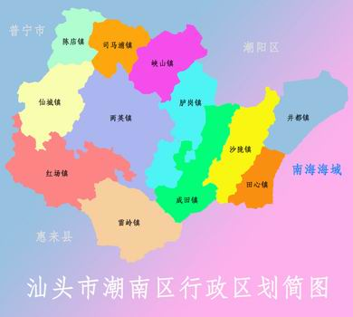 汕头市海门地图