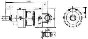 是活塞的一侧有活塞杆的液压缸图片