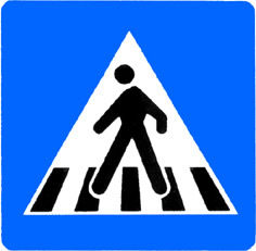 crossing]:马路上用线条标志出来专供