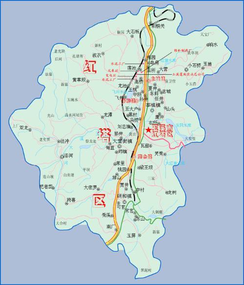 鹤壁市县区地图
