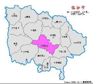 临汾地区地图全图