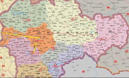 文山州地图全图