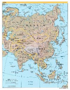 亚洲候类型分布�_亚细亚洲