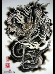 纹身图案大全:龙纹身图案大全:满背.; 经典霸气龙纹身图案大全