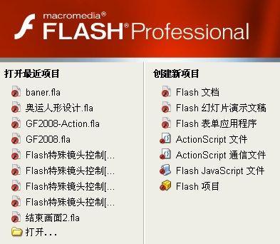 macromedia flash 8.