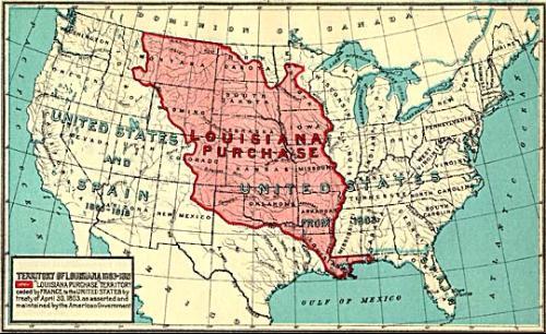 路易斯安那购地使当时的美国版图扩大近一倍图片