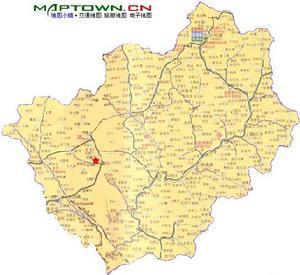 山西忻州定襄县地图