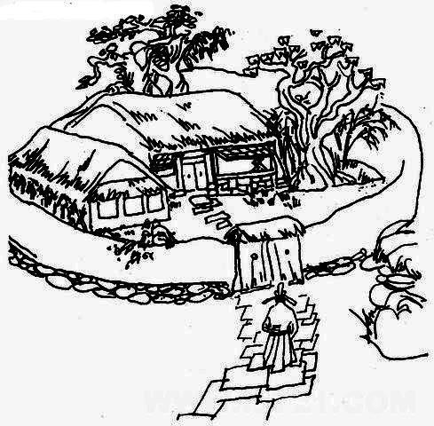 《游园不值》黑白插图