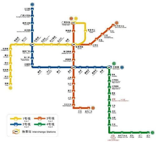 广州2号线地铁线路图 广州2号线