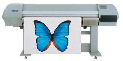 写真机是以喷头在专用材料上喷出各种彩色图案