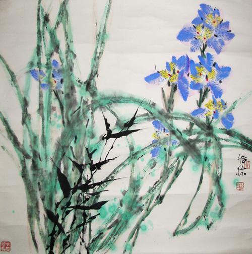 专著:《郭味蕖花鸟枞画技法》,《白描花卉写生》,《中国画花卉技法》