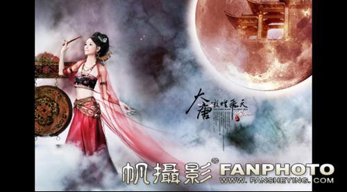 上海虹桥区也有一位美女堪称古装摄影的图片