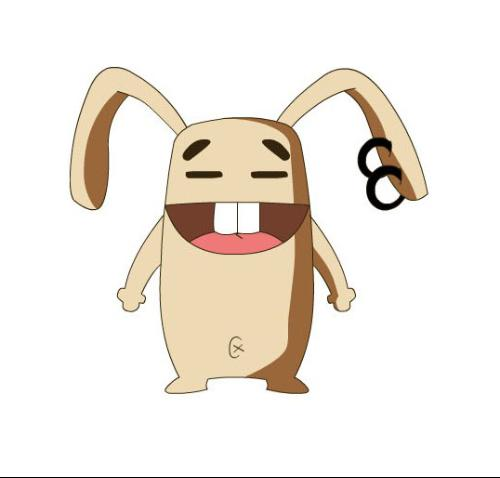 可爱兔尾巴手机壁纸