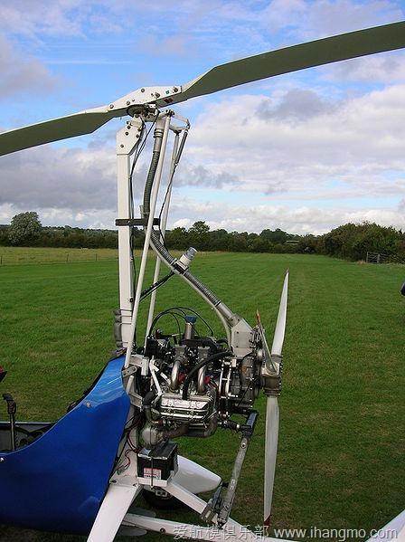 旋翼靠飞机运动时激起气流转动