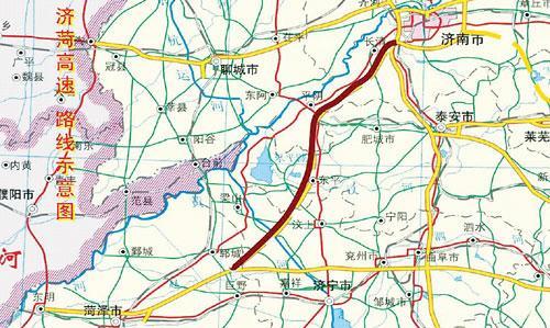 菏泽市道路地图