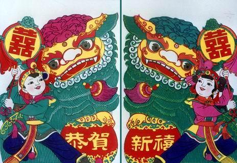 门画、中堂和屏条是桃花坞木刻年画的几种主要形式.年画...
