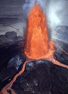 高清竖屏动态火山风景