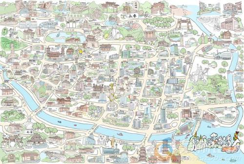 参与《泉州踢透透》手绘地图的策划编辑出版