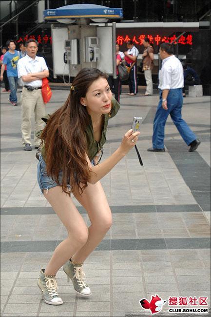 看看重庆的美女