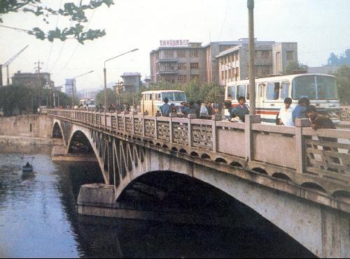 结构为桁架形式的肋拱,为钢拱与钢筋混凝土拱,预应力混凝土拱桥所采用