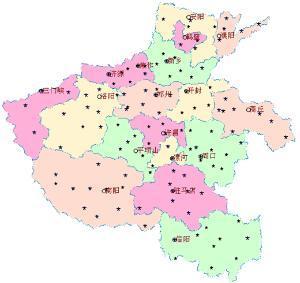 河南省地图-河南 中华人民共和国省级行政区