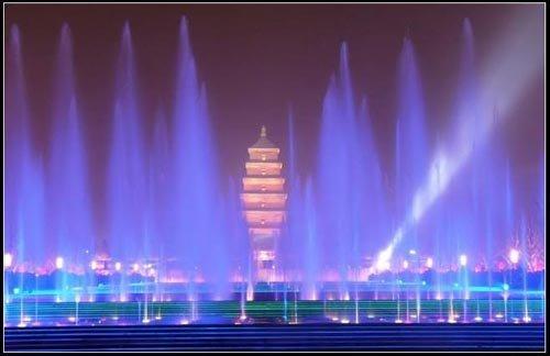大雁塔音乐喷泉广场图片