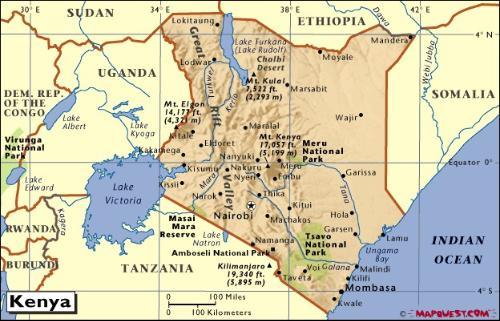 肯尼亚地图