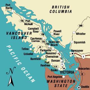 温哥华岛-搜搜百科; 加拿大温哥华地图加拿大西温哥华地图 加拿大