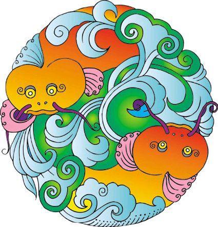 根据点,线,面以及色彩的视觉心理,运用对比与统一,对称与平衡,节奏与