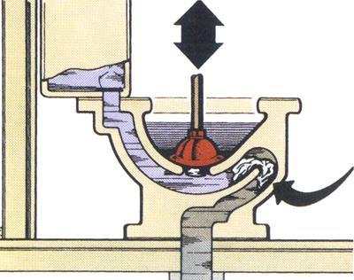 蹲厕疏通结构图