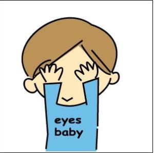 幼儿眼睛痛的卡通图片