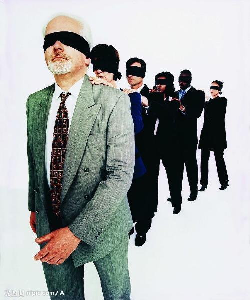 盲人走路图片卡通