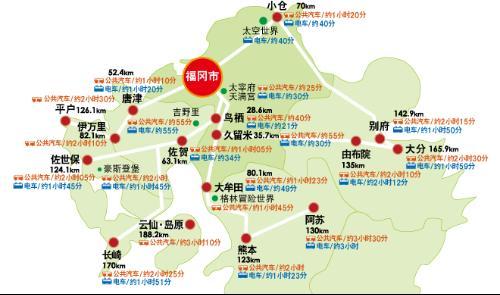 福冈地区鹿儿岛本线的沿途停车博多站可换乘山阳新干线,地铁空港线(1