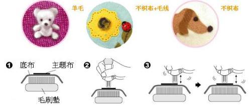 掇花作品使用的绣线材料可以很广泛:尼龙绒线