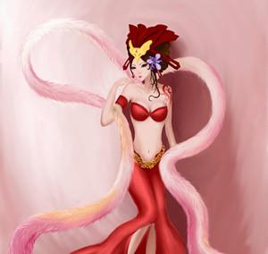 动漫狐妖手绘图片女
