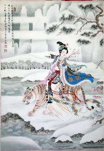 王氏三兄弟永远团结如一人,长远地将现在掌握的工笔画重彩技法不断