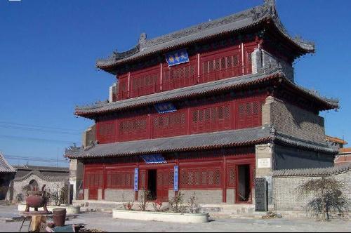 唐山的榫卯结构的建筑