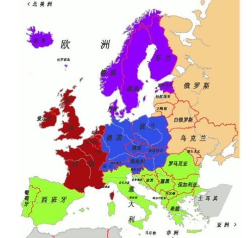 西欧地图轮廓图