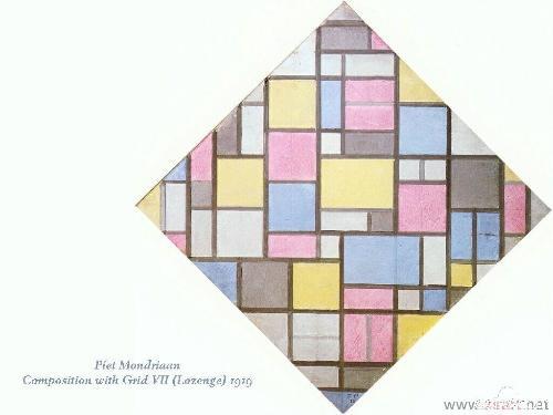 抽象画派大师 彼埃 蒙德里安和他的作品