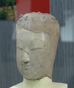 北魏孝明帝雕像