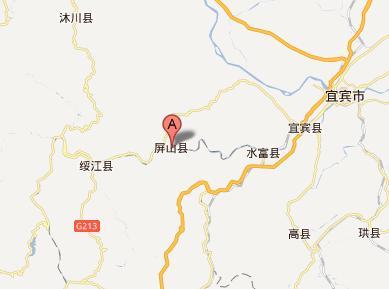 宜宾屏山县地图