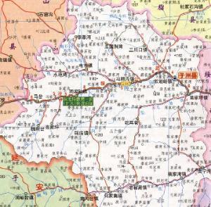 子洲县地图