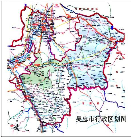 中国地图宁夏吴忠