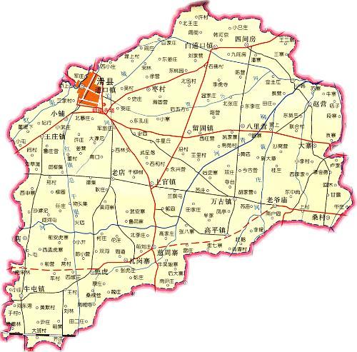 河南安阳滑县地图; 滑县地图;;;