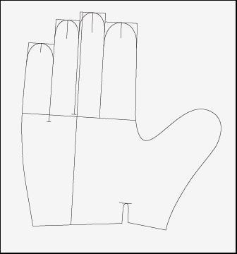 儿童卡通手套简笔画