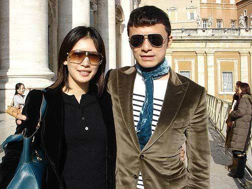 谢晖和妻子