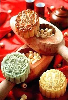 中秋节彩铅手绘月饼